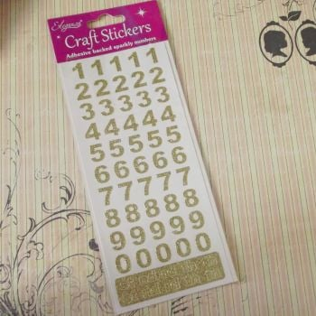 November Extra ~ Gold Glitter Number Stickers