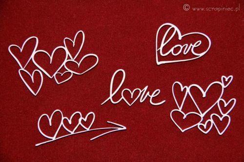 Brush Art Elements Hearts