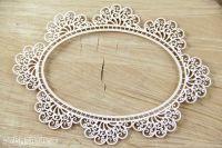 Doily Lace Oval Frame (3553)