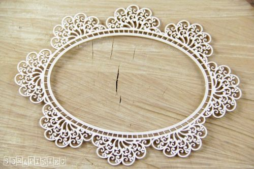 Doily Lace Oval Frame