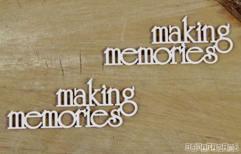 Words - Making Memories x 2 (4033)