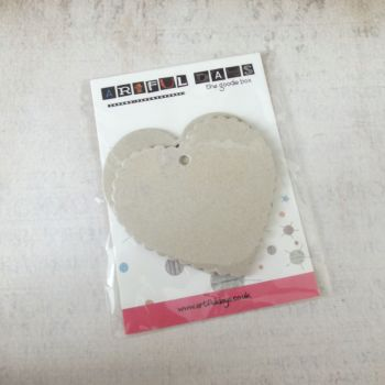 Jan Extra ~ Grey board Hearts