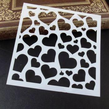 Stencil ~ Hearts