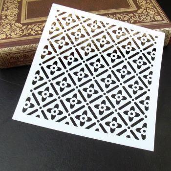 Stencil ~ Fretwork Squares