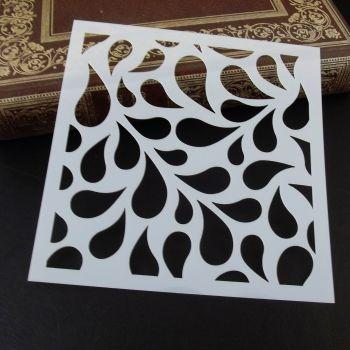Stencil ~ Leaf-drops