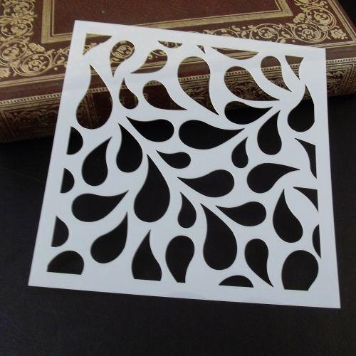Stencil ~ Leafdrops