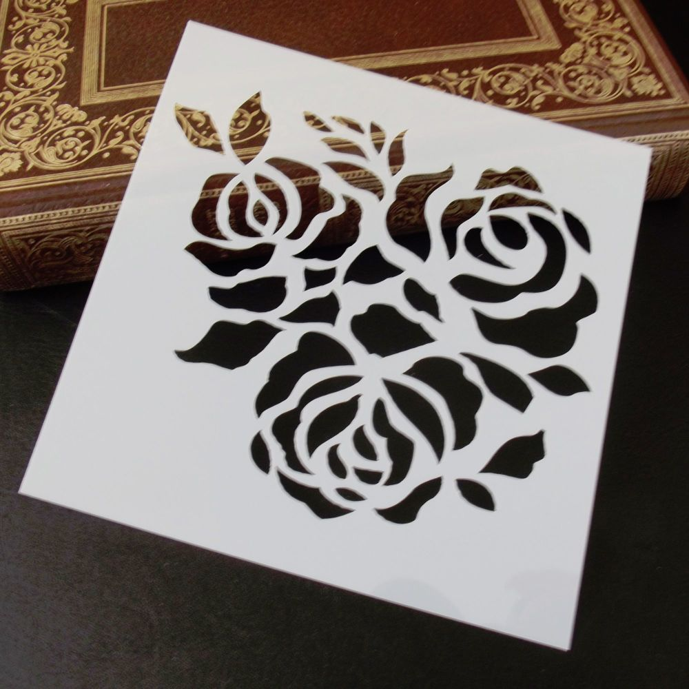 Stencil ~ Large Roses