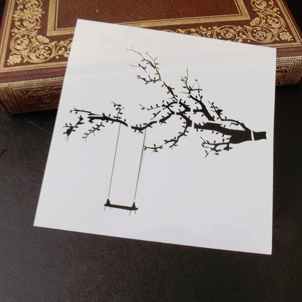 Stencil ~ Tree Swing