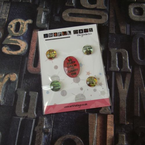 Feb Extra ~ Glass Dome Cabochons Words