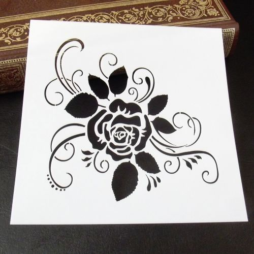 Stencil ~ Rose Flourish