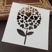 Stencil ~ Heart Flower