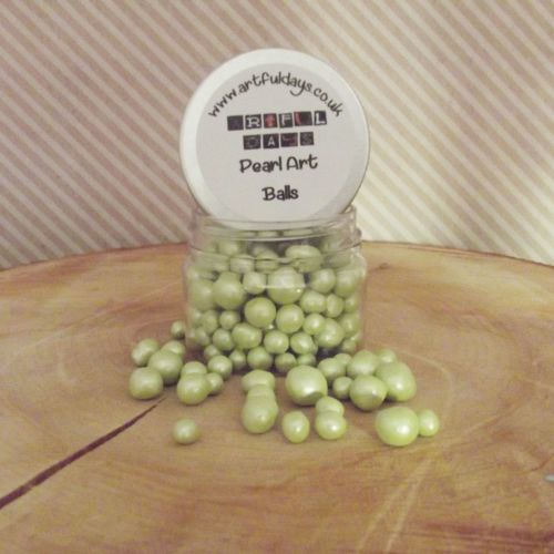 Artful Days Pearl Art Balls ~ Light Pistachio