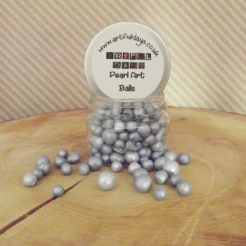Artful Days Pearl Art Balls ~ Silvery Blue