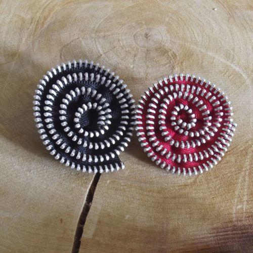 Black & Red Zip Flowers