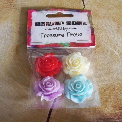 Large Resin Coloured Roses
