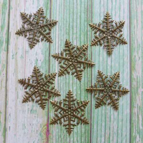 Bronze Snowflake Metal Embellishments