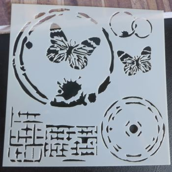 Stencil ~ Butterfly Circles