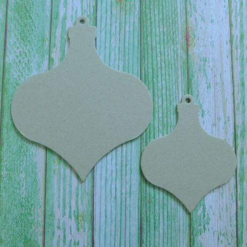 Grey Board Christmas Shapes ~ Baubles