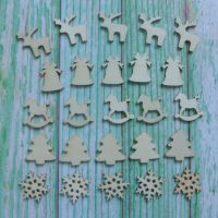 Mini Christmas Wooden Embellishment Shapes