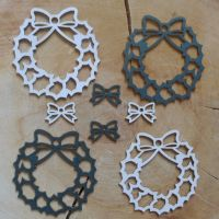 Chipboard Christmas Wreaths
