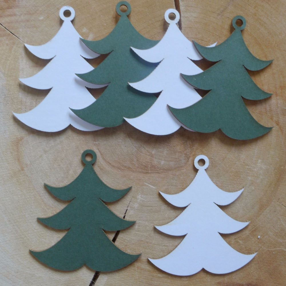Chipboard Christmas Trees