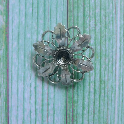 Silver Holly Flower Charm