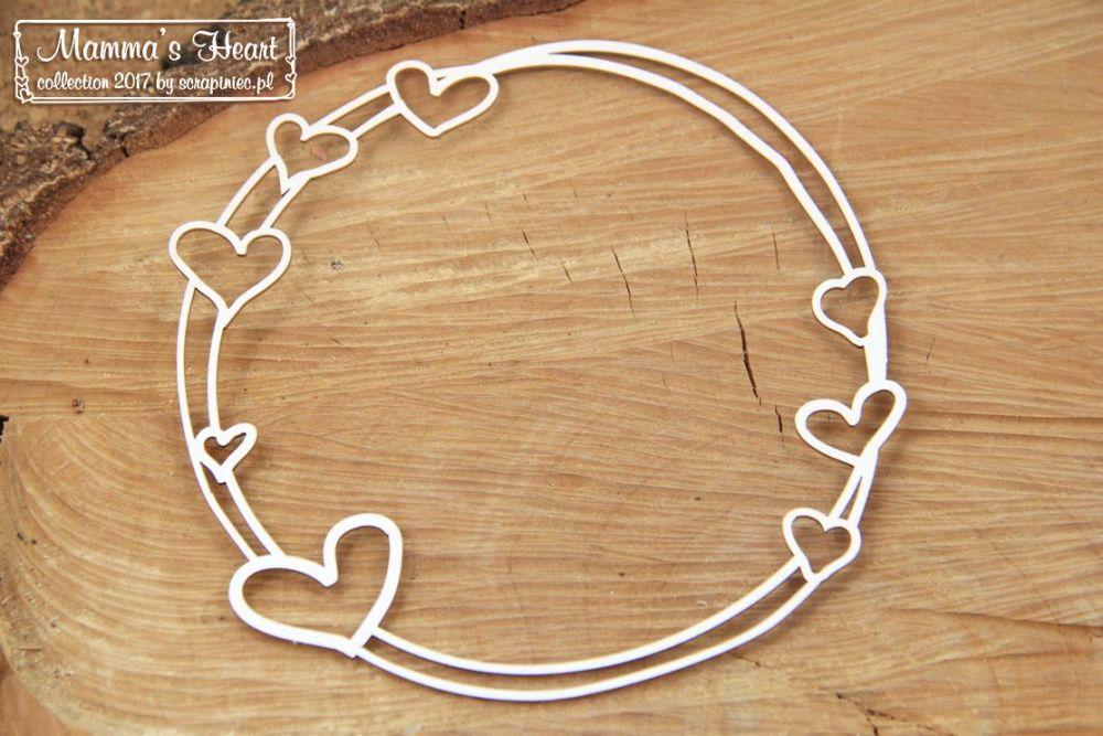 Mamma's Heart - Big Round Frame (4709)