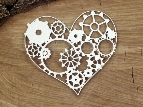 Steampunk Flying - Gear Heart (4756)