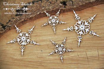 Christmas Sketch - 4 Snowflakes (4869)