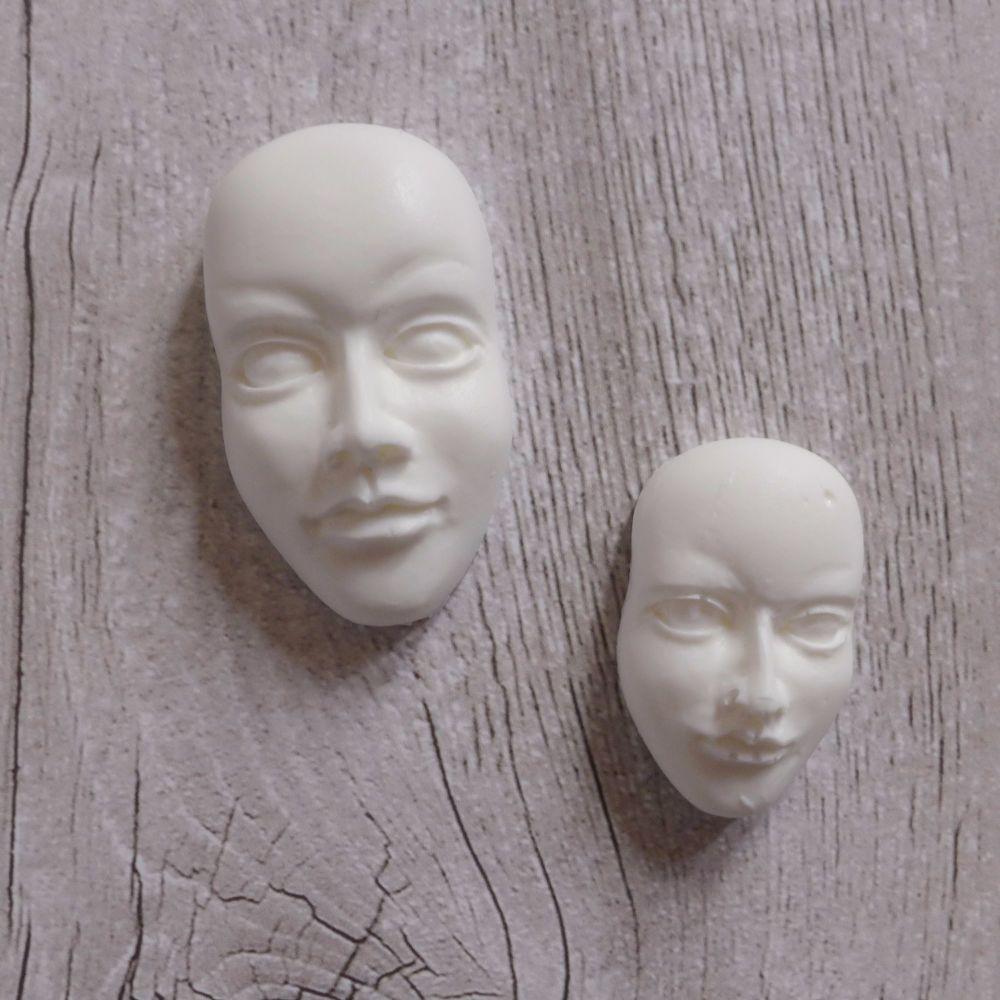 White Resin Faces
