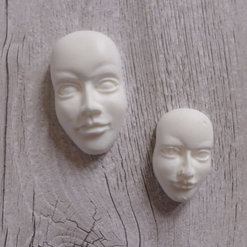 White Resin Faces