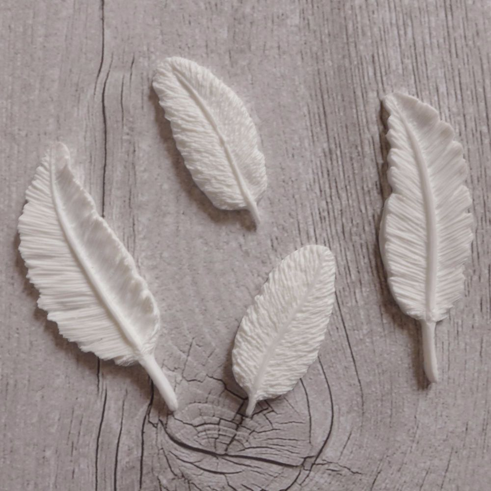 White Resin Feathers
