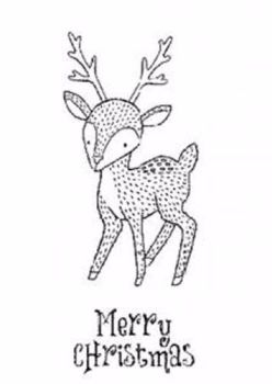 Creative Expressions A6 Rubber Stamps - Dasher Deer
