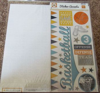 "Echo Park Mini Theme 12 x 12"" Scrapbooking Papers & Stickers - All Star"