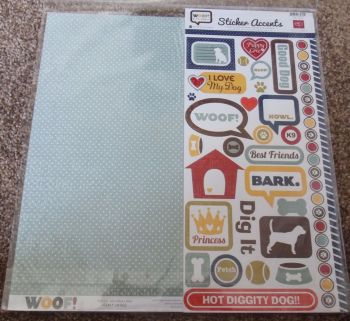 """Echo Park Mini Theme 12 x 12"""" Scrapbooking Papers & Stickers - Woof"""