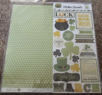 "Echo Park Mini Theme 12 x 12"" Scrapbooking Papers & Stickers - Lucky You"