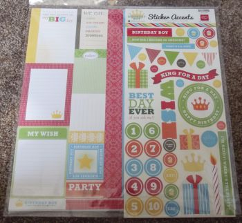 "Echo Park Mini Theme 12 x 12"" Scrapbooking Papers & Stickers - Birthday Boy"