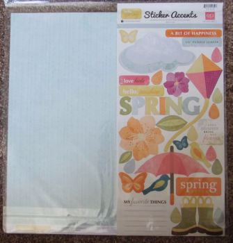 "Echo Park Mini Theme 12 x 12"" Scrapbooking Papers & Stickers - Spring"