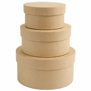 Do Crafts Bare Basics Nesting Circle Boxes