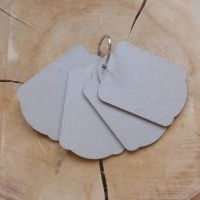Grey Board Mini Tag Book & Ring