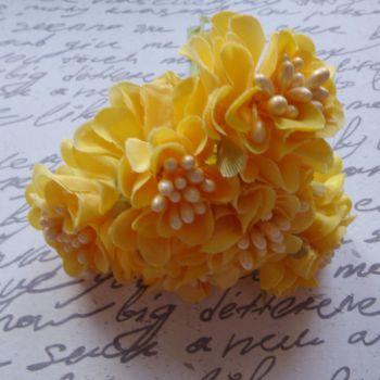 Fabric Flowers - Yellow (F6003)
