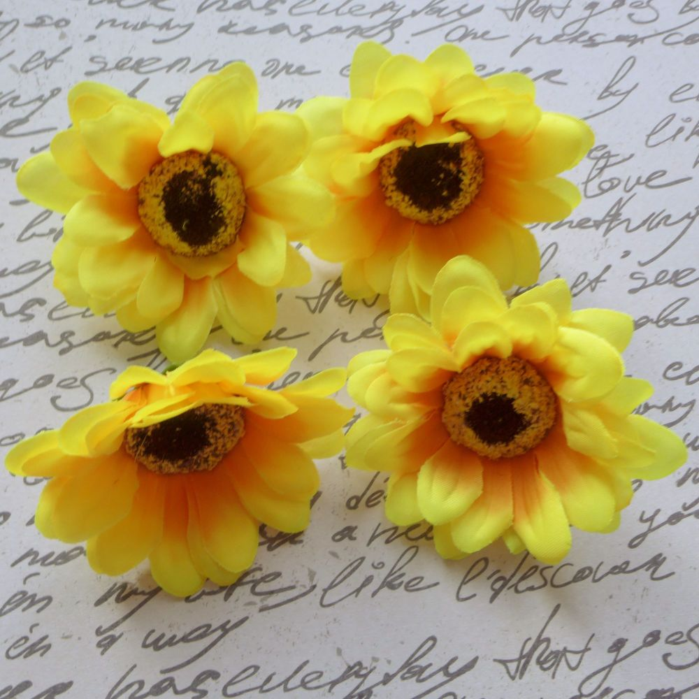 Large Fabric Sunflowers (F6006)