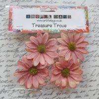 Large Daisy Flowers - Aged Orange/Cream (F6009)