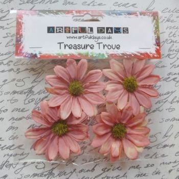 Large Daisy Flowers - Aged Orange/Cream (F6009)