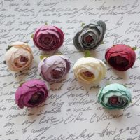 Cupped Fabric Flowers (F6012)