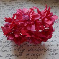 Fabric Lily Flowers - Fuchsia (F6016)