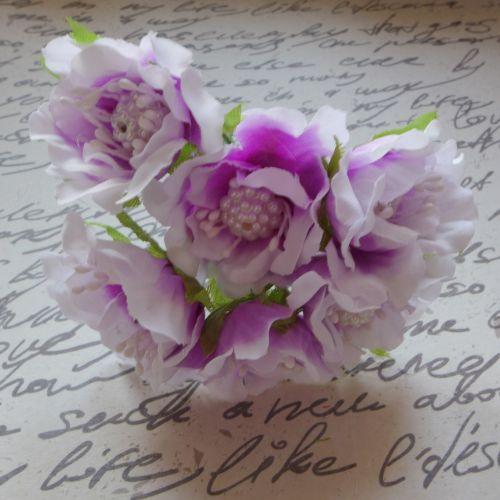 Bead Fabric Flowers - Lilac (F6025)