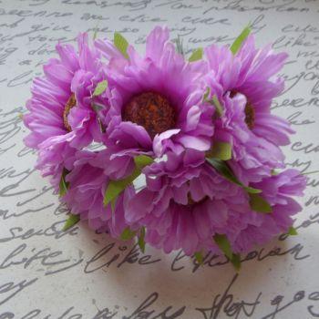 Gebera Daisy Fabric Flowers - Lilac (F6038)