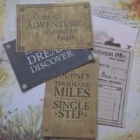 July Extra (Travel Plans) - Journalling Cards