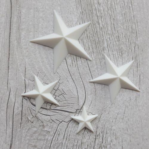 White Resin Stars (R7015)